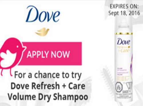 Chickadvisor Dove Refresh + Care Volume Dry Shampoo Campaign