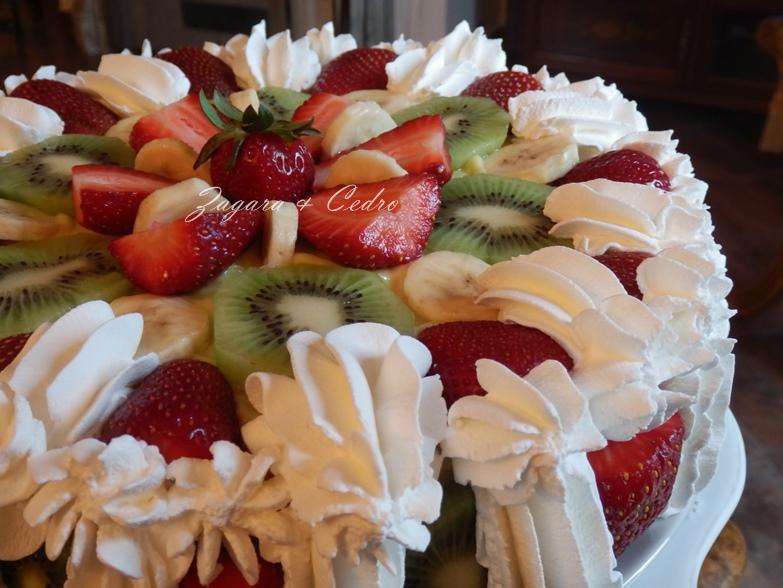 Torta Di Compleanno Alla Frutta Fresca Con Crema Pasticcera Zagara