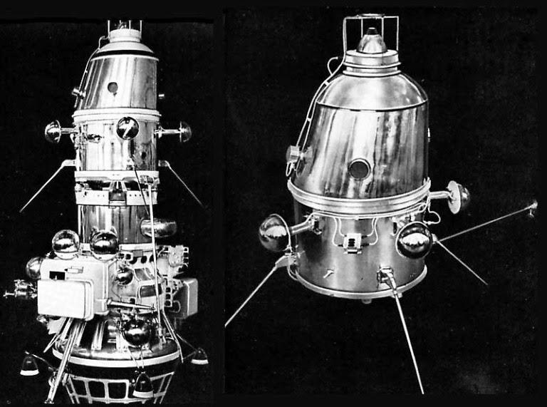 I due moduli della sonda Luna 10.