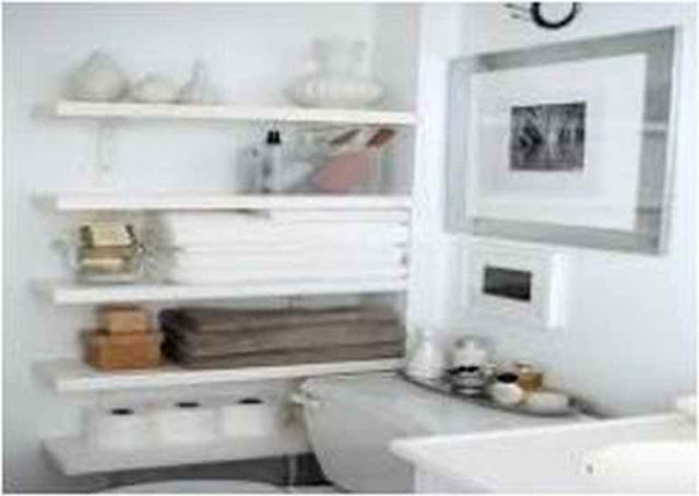 Ideas For Decorating Bathroom Shelves DB S28U
