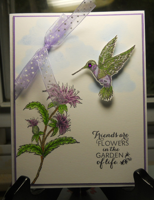 Stamps - Our Daily Bread Designs Zinnia, Bee Balm, ODBD Custom Hummingbird Die