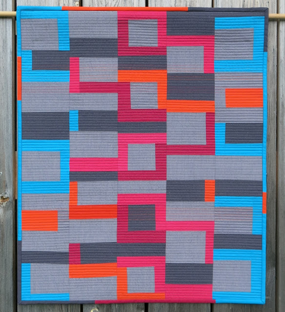 Luna Lovequilts - Improv quilt - Inspired by Score #5 in Sherri Lynn Wood book