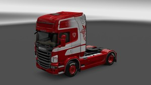 Red & White Scania R skin mod by RedLion