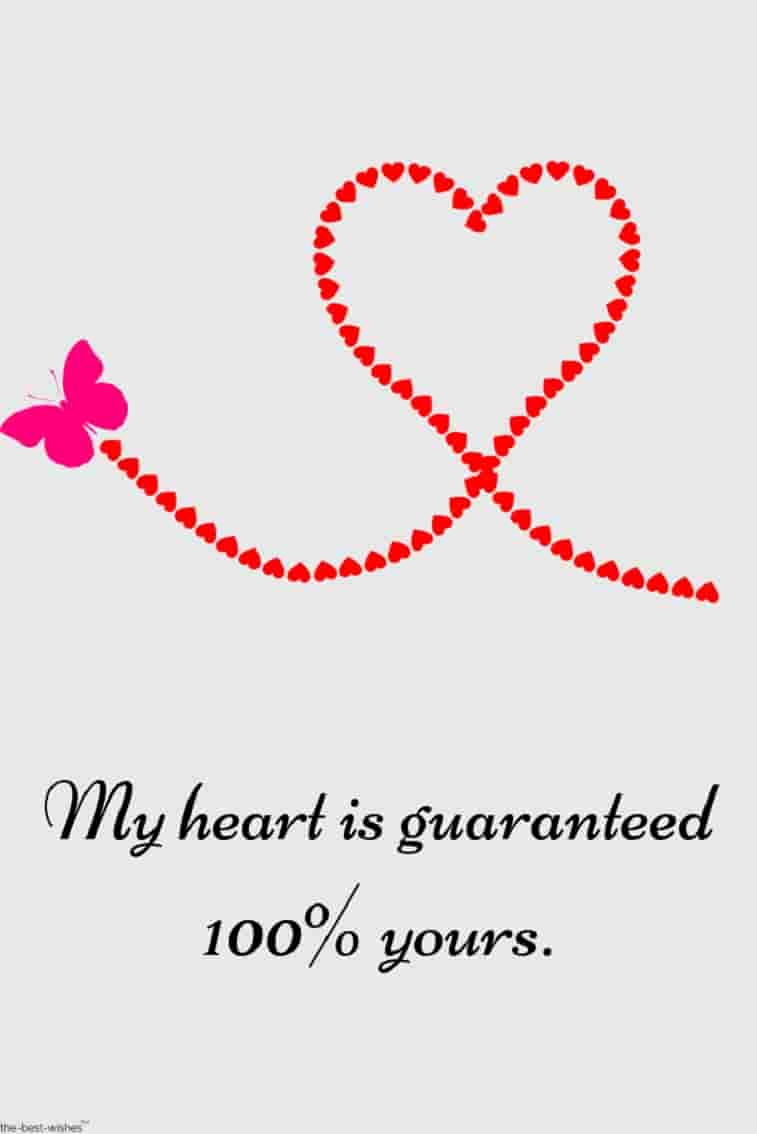 quote for girlfriend with heart