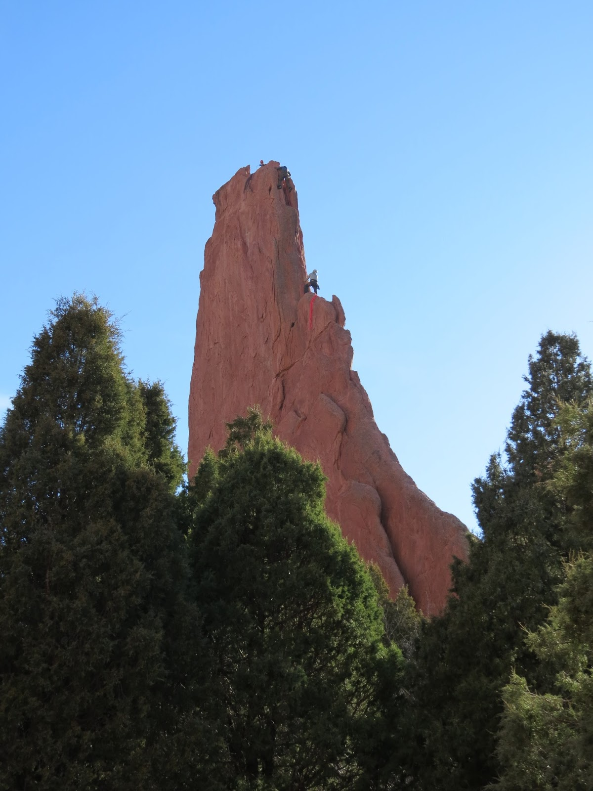 Have book will travel rock climbing in the garden of the gods for Garden of the gods rock climbing