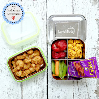 Lunch box fun with popcorn shrimp! #lunchboxideas