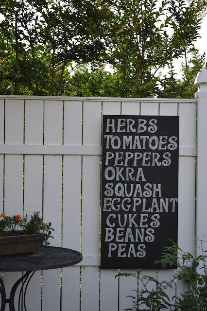 Outdoor Chalkboard Sign, Garden