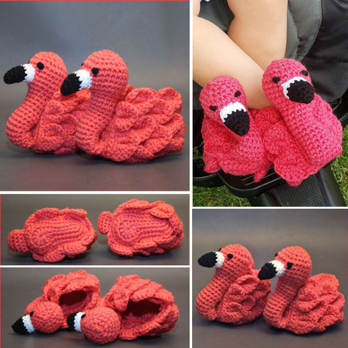 Flamingo Feet Baby Booties - Tutorial