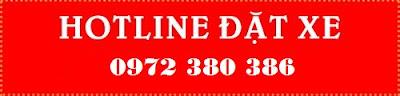 Hotline đặt xe 0972 380 386