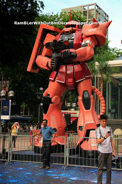 Zaku model, action figure, Singapore
