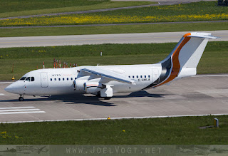 BAe 146-200 of JOTA Aviation at Zurich, Switzerland