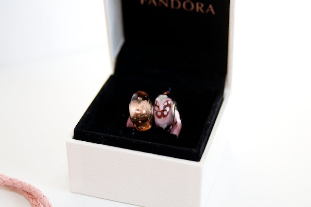 Pandora koralik  zawieszka murano pocałunki motyli