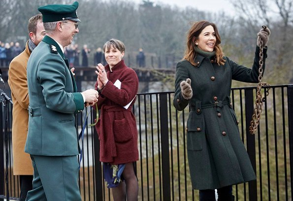 Crown Princess Mary of Denmark attended opening of a new visitor center at Hammershus which is located in Bornholm and the biggest castle of Northern Europe