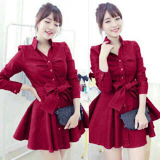 dress monica red