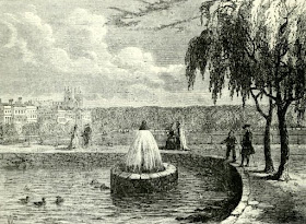 The Fountain in the Green Park in 1808  from Old and New London by E Walford (1878)