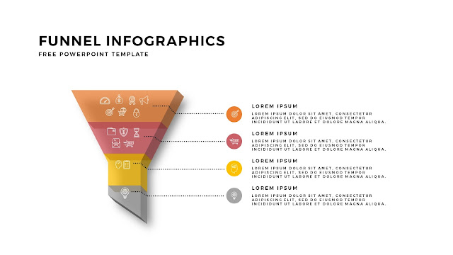 Free Infographic PowerPoint Templates for Marketing and Sales Funnel Presentation Slide 5