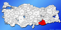 Şanlıurfa ilinin Türkiye haritasında gösterimi
