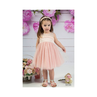 christening dress in pink color