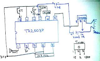 Circuit Diagram of FM Radio Receiver