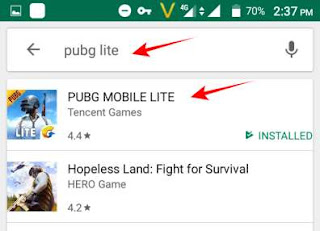 Google play store par pubg lite search kar download kare
