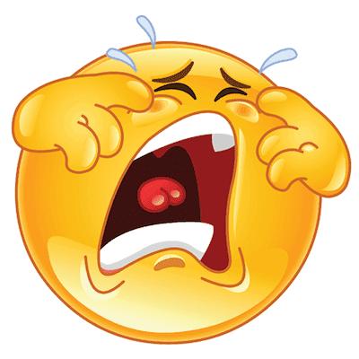 Weeping emoji