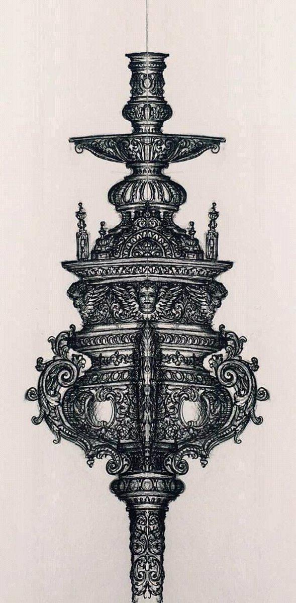 La Hermandad Santa Genoveva de Sevilla ha encargado un juego de ciriales, incensarios y navetas