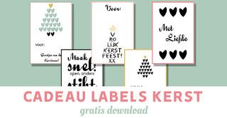 cadeau labels kerst