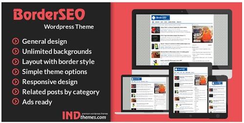 Border SEO WordPress Theme untuk AdSense