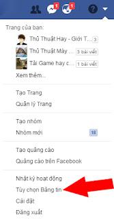 hướng dẫn cài đặt lại bảng tin facebook