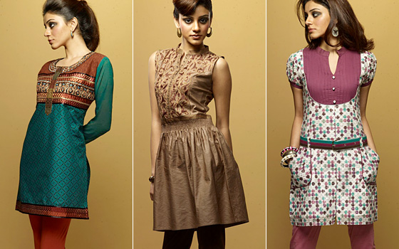 eabb1ae4bec92 The ethnic kurtis are usually made of cotton and silk and make the wearer  look absolutely elegant and perfect for a formal party.
