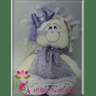 Boneca de pano sorriso cor: lilás