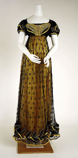 Regency evening gown, 1810
