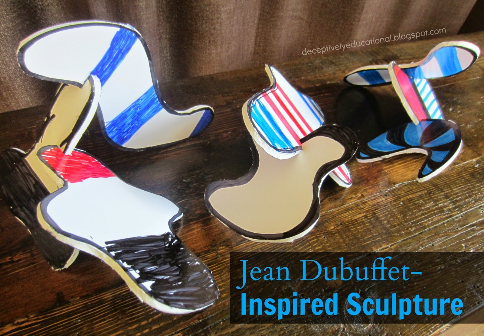 Relentlessly Fun Deceptively Educational Jean Dubuffet Inspired Sculpture