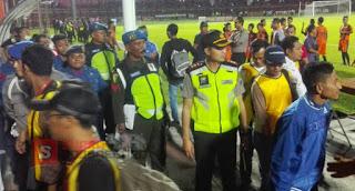 450 Personil Polisi Siaga & Sisir Jalan Laga Persibo vs Timnas U-19 Berjalan Tertib