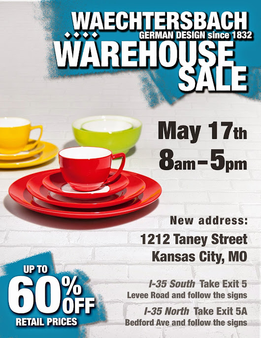 We Are Having Our 60% Off Warehouse Sale May 17th From 8am-5pm - Don't Miss Out On Some Amazing Savings