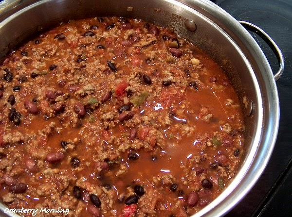cranberry morning best chili con carne recipe. Black Bedroom Furniture Sets. Home Design Ideas