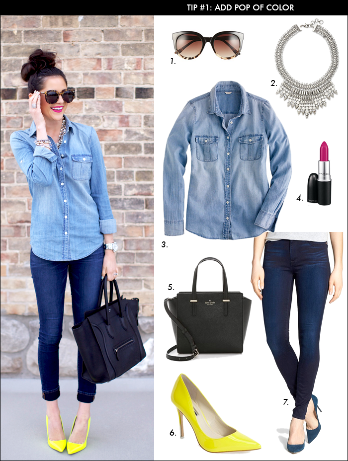 how to wear denim, olivia palermo, tie belt, spring trends, rach parcell, pink peonies