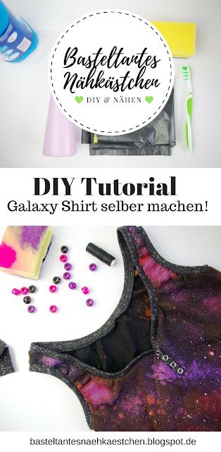 Tutorial Galaxy Shirt selber machen
