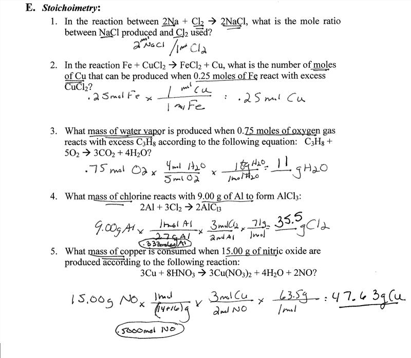 Dlewis Blog Stoichiometry
