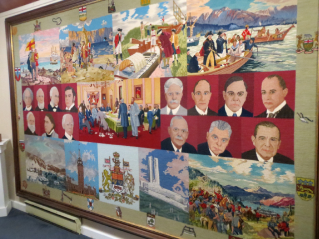Elizabeth Lefort S Work Canadian Centennial Rug Les Trois Pignons Museum