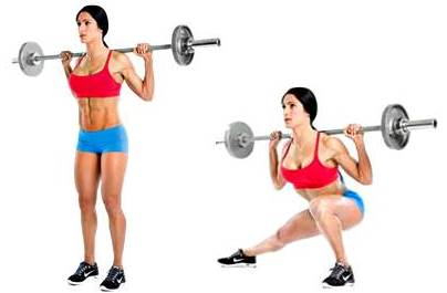 Side lunges with barbell on the trapezius or sitting adductor muscle.