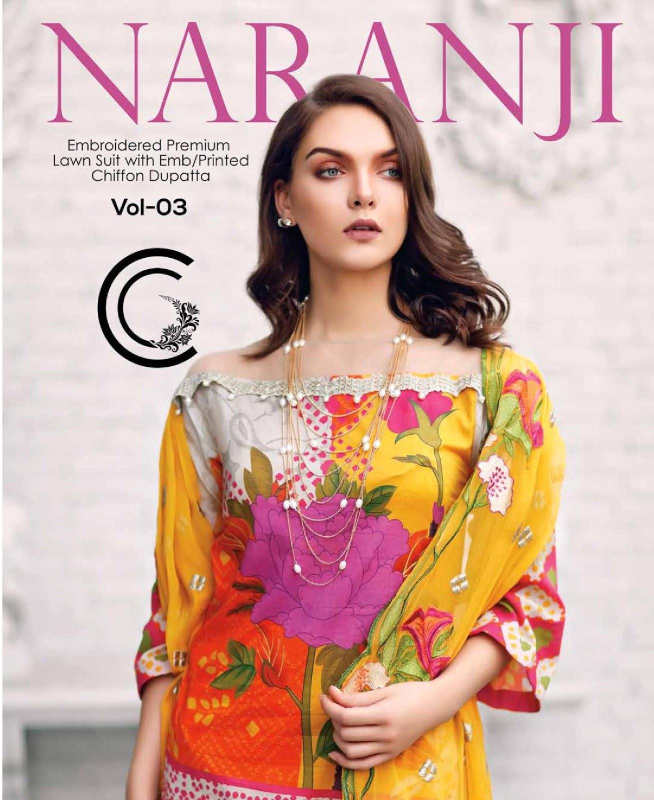 681a8a386b 4Seasons Fashion: Charizma Naranji Premium Embroidered Lawn ...