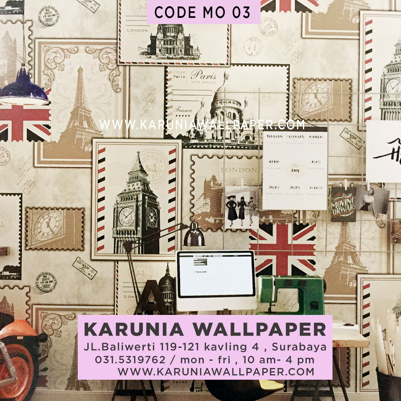 jual wallpaper dinding london inggris