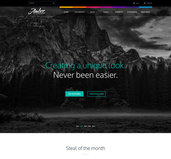 Amber – Free PSD Template