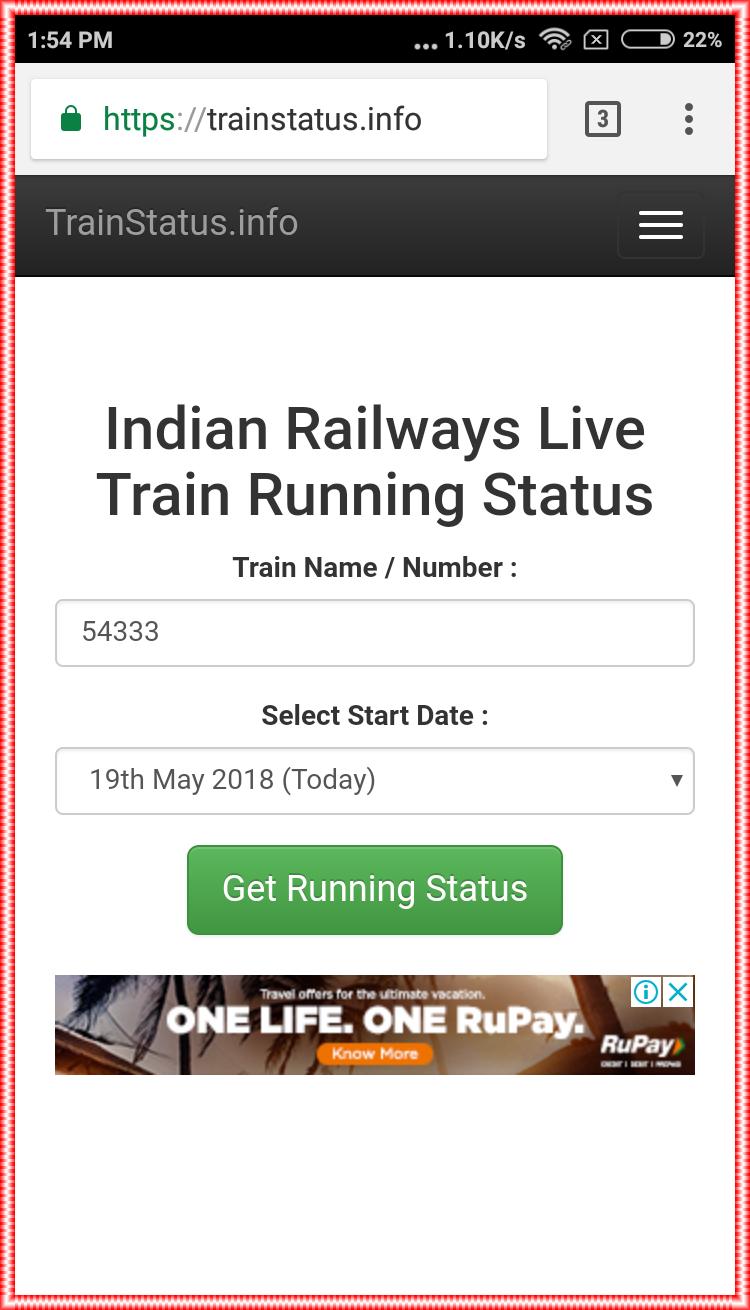 Live Train Status) Live Train Running Status Kaise Check