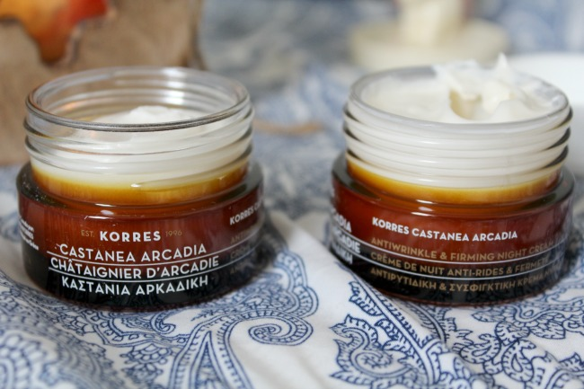 Korres Castanea Arcadia anti-wrinkle range. Nourish ME: www.nourishmeblog.co.uk