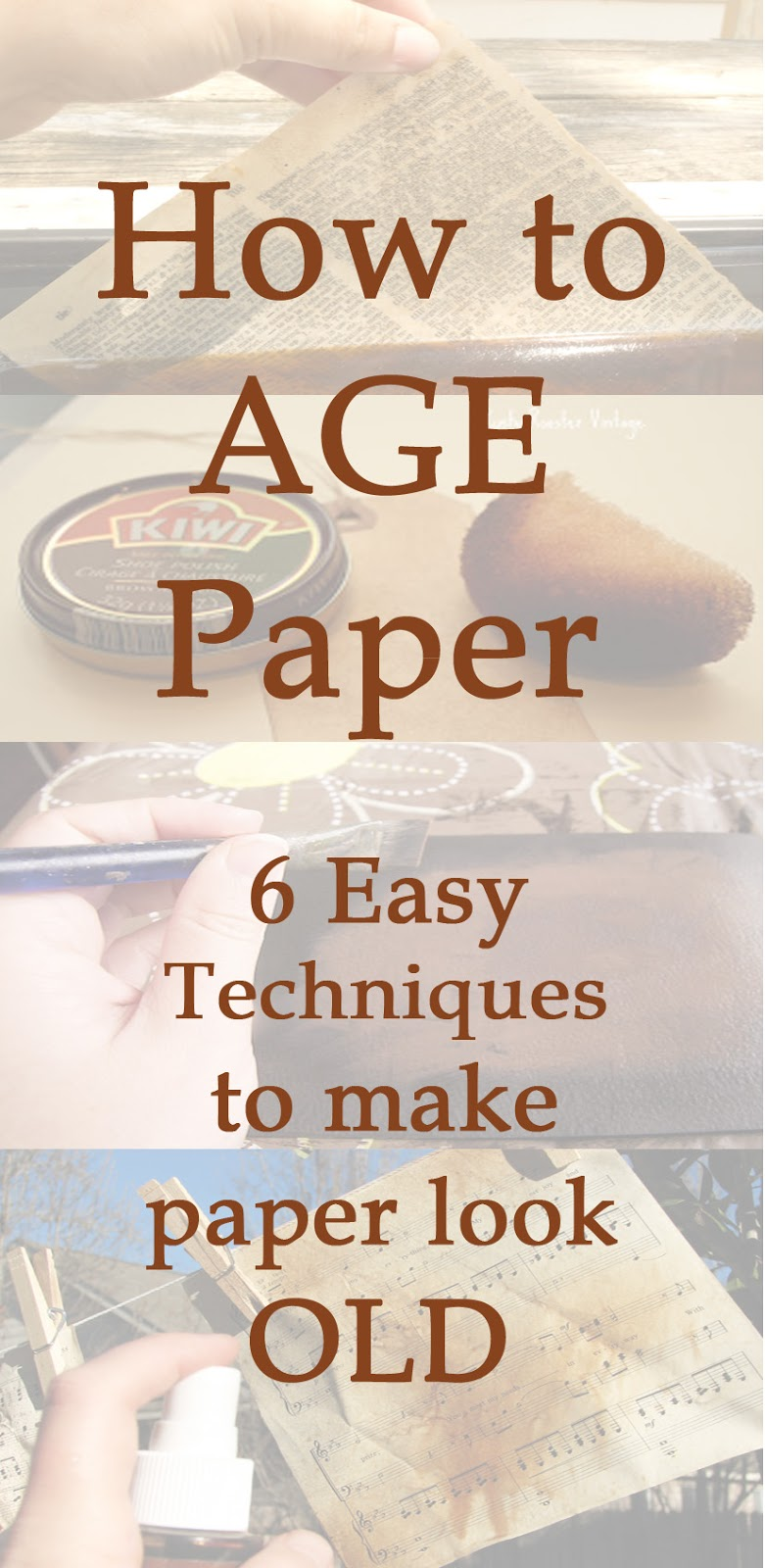 How to Age Paper 6 easy technique to make paper look old Einat