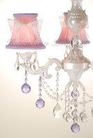 kristal taşlı, sedef rengi avize, dantelli avize şapkası, aydınlatma,