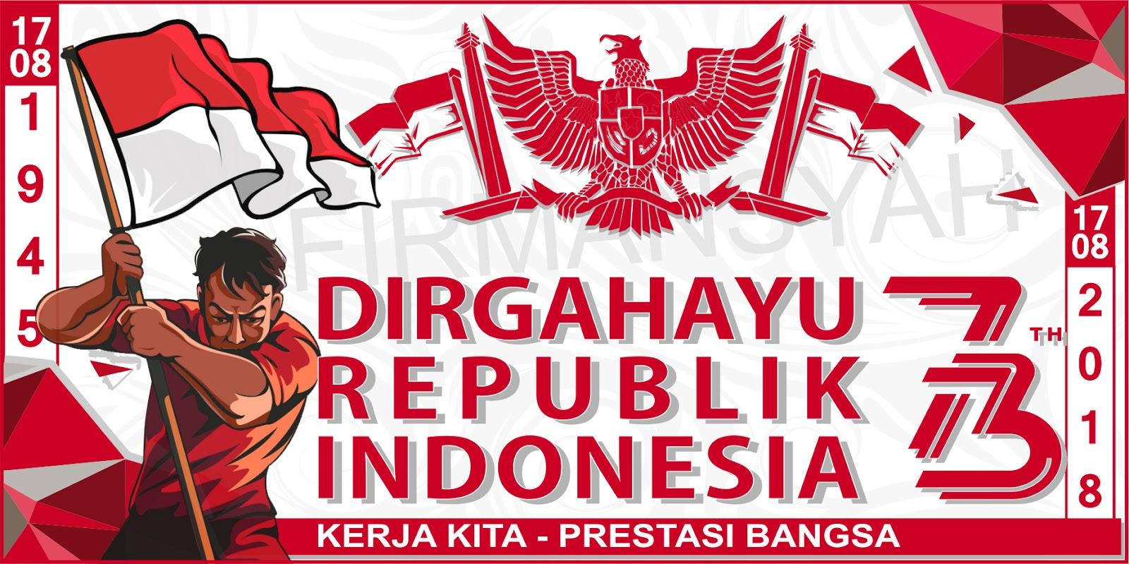 Desain Spanduk Banner HUT RI 73 Tahun 2018 Cdr
