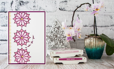 How to make Spirograph Like  Flowers with the Eastern Beauty Stamp Set from Stampin' Up! UK